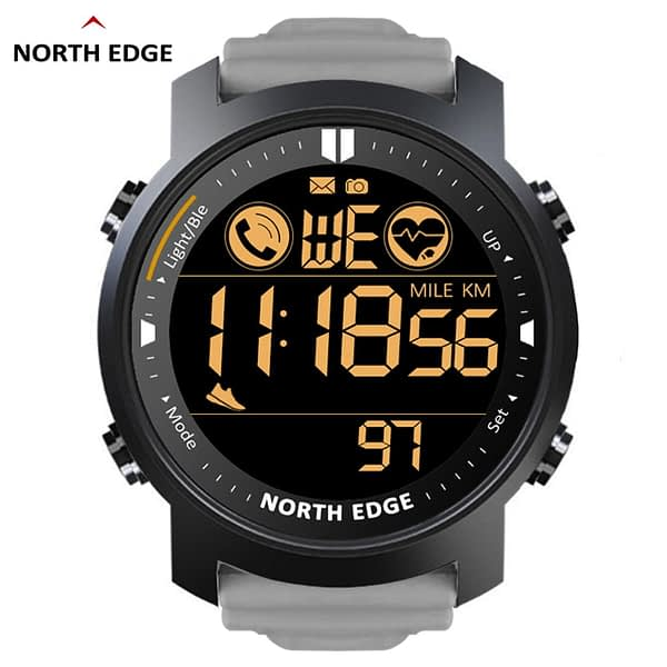 NORTH EDGE Smart Watch Men Heart Rate Monitor Waterproof 50M Swimming Running Sports Pedometer Stopwatch Smartwatch Android IOS