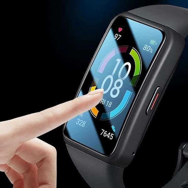 1-2PCS 3D Protective film for huawei honor band 6 3D Curved Edge film for honor band 6 Wristband Soft Screen Protector film