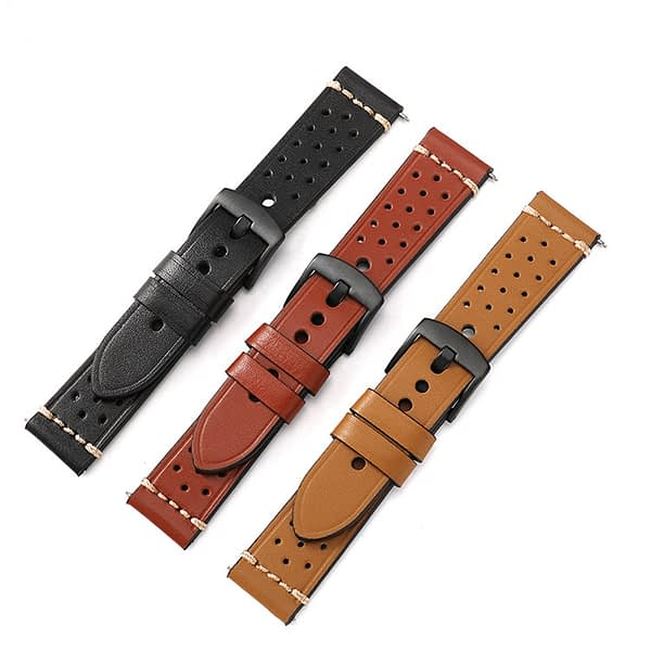 Bakeey Universal 22mm Hand-stitched Head Layer Cowhide Replacement Strap Smart Watch Band For Gear S3