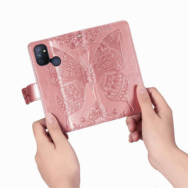 Flip Case For OnePlus Nord N100 N10 Case 3D Butterfly Luxury Wallet Cover PU Leather Phone Case For OnePlus Nord N100 n10 Case