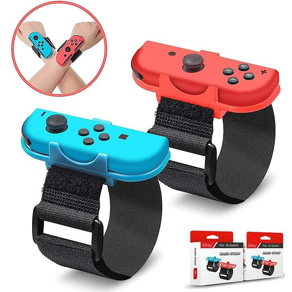 1 Pair Adjustable Game Bracelet Elastic Strap for Nintendo Switch Joy-Con Controller Wrist Dance Band Armband For Switch Dance