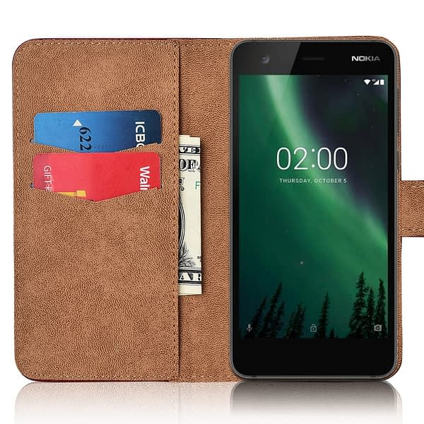 For Nokia 2 Cover Nokia 2 Kickstand Unicorn Floral Wallet Flip Case Leather Fitted Case For Para On Nokia 2 Coque