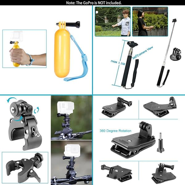 Neewer for GoPro Accessories Set for Go Pro Hero 8 7 6 5 4 Black Mount for Xiao Yi 4k Mijia Case for Sjcam Action Camera