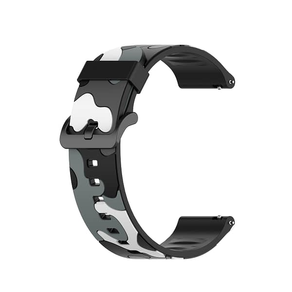 Bakeey 20 / 22 mm Universal Camouflage Replacement Silicone Watch Band for Haylou Solar Smart Watch Non-original
