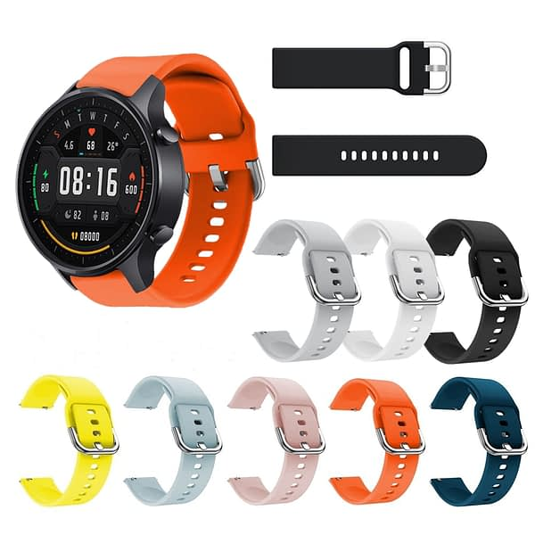 Bakeey 22mm Colorful Replacement Strap Silicone Smart Watch Band For Xiaomi Watch Color Non-original