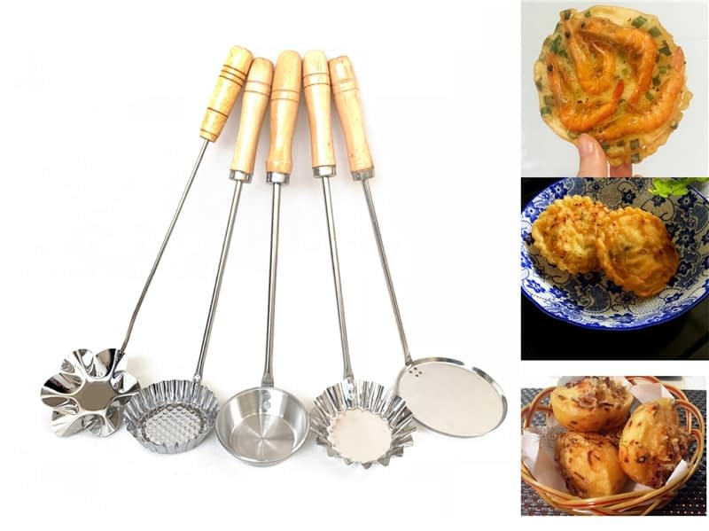 Stainless steel fried egg tarts mould Baba mould oil Dunzi radish silk cake fried fruit oil fragrant Baba filling tool spoon