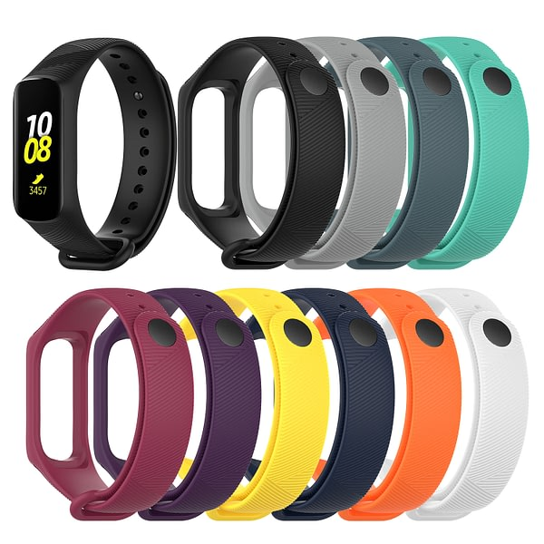 Bakeey Silicone Diagonal Smart Bracelet Watch Band Strap Replacement for Samsung Galaxy Fit-e R375