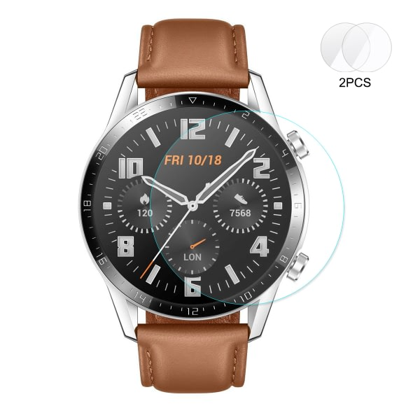 ENKAY Watch Screen Protector Arc Tempered Film for Huawei Watch GT 2 46mm Smart Watch