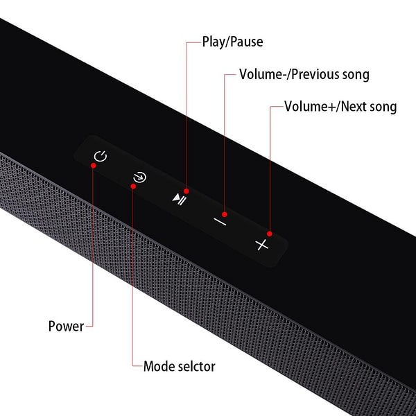 40W Home Theater Wall-mounted Soundbar TV Bluetooth Speaker Support Optical HDMI Coaxial AUX Sound Bar With Subwoofer For TV PC