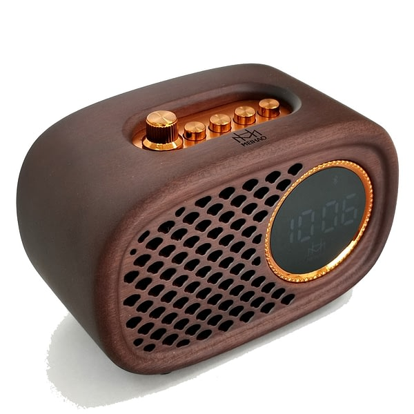 Solid Wood Speaker Wooden Retro Bass Crafts Artwork Gift Portable Box Subwoofer With Best Quality Sound IN The House Outdoors