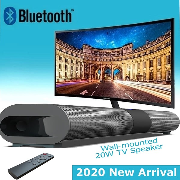 Rsionch Wireless Bluetooth Speaker TV Soundbar Column Wall-mounted Home Theater Subwoofer Surround RCA Remote Control PC Speaker