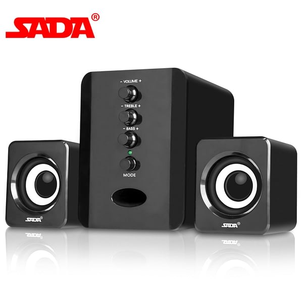 SADA D-202 Combination Speakers USB Wired Computer Speakers Bass Stereo Music Player Subwoofer Sound Box for PC Smart Phones
