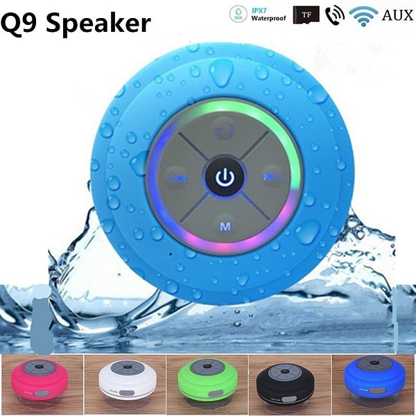 Q9 Portable Waterproof Mini Bluetooth Speaker Wireless Handsfree , For Showers ,Bathroom, Pool, Car, Beach & Outdo