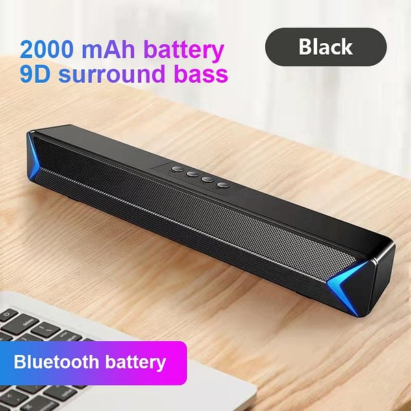 Portable Laptop/Computer/PC Speaker Subwoofer AUX USB Wireless Soundbar Sound Bar Stick Music Player Speakers For Tablet