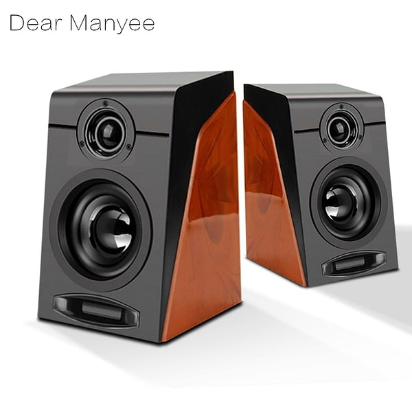 2021-D3 Wired Computer Speakers Player Wooden Portble With Stereo USB Powered Multimedia Pro For PC/Laptops/Smart Phone