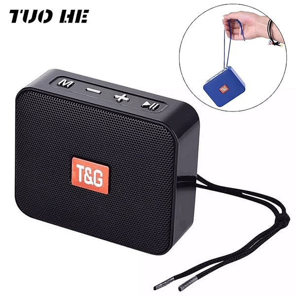 TG166,Portable Bluetooth Speaker,Wireless,Square,Small Mini Speakers,With Lanyard,Home,Outdoor,Speaker,Support USB,TF,FM Radio