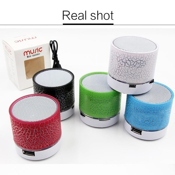 Colorful LED Light-up Mini Bluetooth Speaker Portable A Wireless Bluetooth Small Radio With USB Music Speaker + TF Card