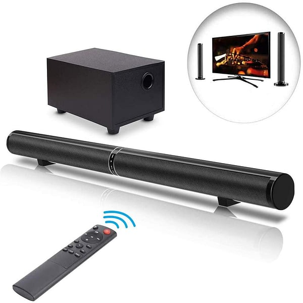 YOUXIU 65W TV Sound Bars Home Theater Soundbar Separable Bluetooth 5.0 Speakers Echo Wall Bar With 25W Subwoofer Boost Bass