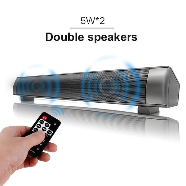 Strong Super Bass Sound bar Speakers Wireless Bluetooth Stereo Soudbar Channel 3.0 TV Computer with 3.5mm Aux TF Card LED Micro