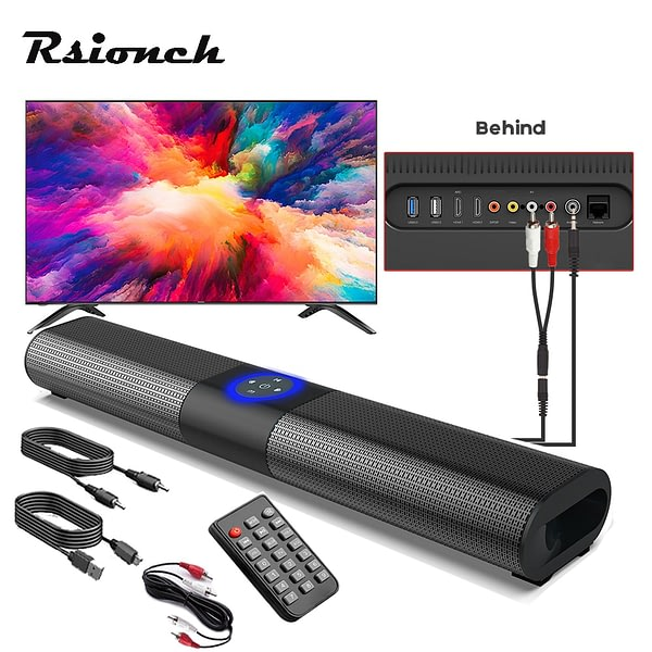 Home Theater Soundbar Portable Speakers TV Echo Wall Sound System Bluetooth Speaker Led Lantern Music Player Support RCA AUX USB