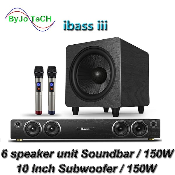 ibass iii Soundbar Bluetooth Home Theater DTS SRS 3D Virtual Surround TV Wireless Speaker Coaxial Optical Lossless sound quality