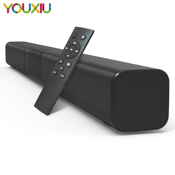YOUXIU Bluetooth Sound Bars 50W Wireless Speakers Hifi 3D Stereo Column Subwoofers Surround Speakers with Remote Control for TV