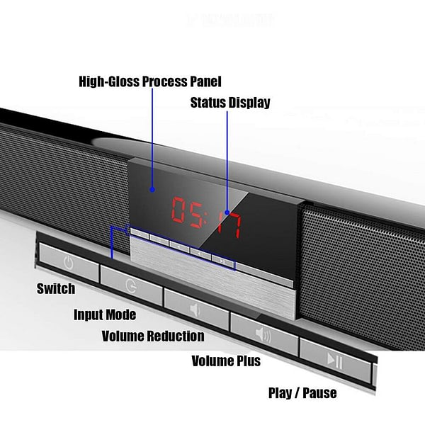 YOUXIU 40W TV Soundbar Wireless Bluetooth Sound Bars Hifi 3D Stereo Surround Sound Built in Subwoofers Home Theater Speakers