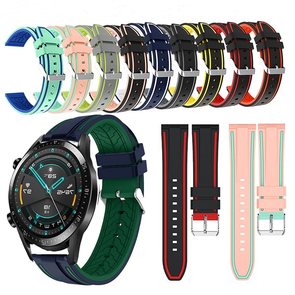 Bakeey 22mm Silicone Smart Watch Band Replacement Strap For Samsung Gear S3/Huawei Watch GT 2 46MM/Amazfit Stratos 2/2S