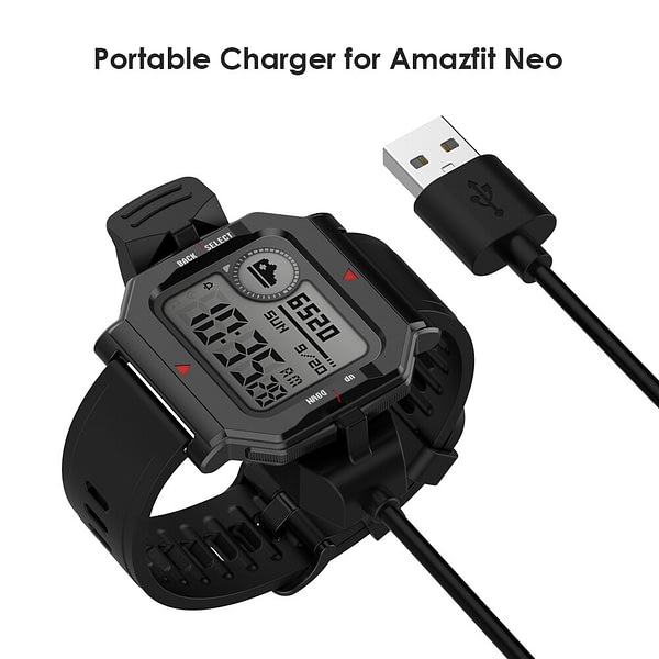 Smart Watch Charger Device 1m Fast USB Charging Cable for Huami Amazfit Neo Smart Watch Wireless Charging Cable