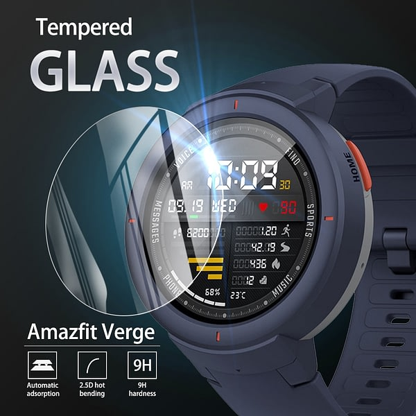 5Pcs 9H Premium Tempered Glass For Huami Amazfit Verge Smartwatch Screen Protector Film Accessories for Huami Amazfit Verge