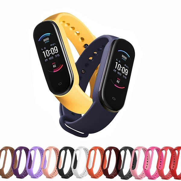 Strap for Amazfit Band 5 Replacement WristStrap for Xiaomi Huami Amazfit Band 5 Band5 Silicone Bracelet for mi band 5 Smart Band