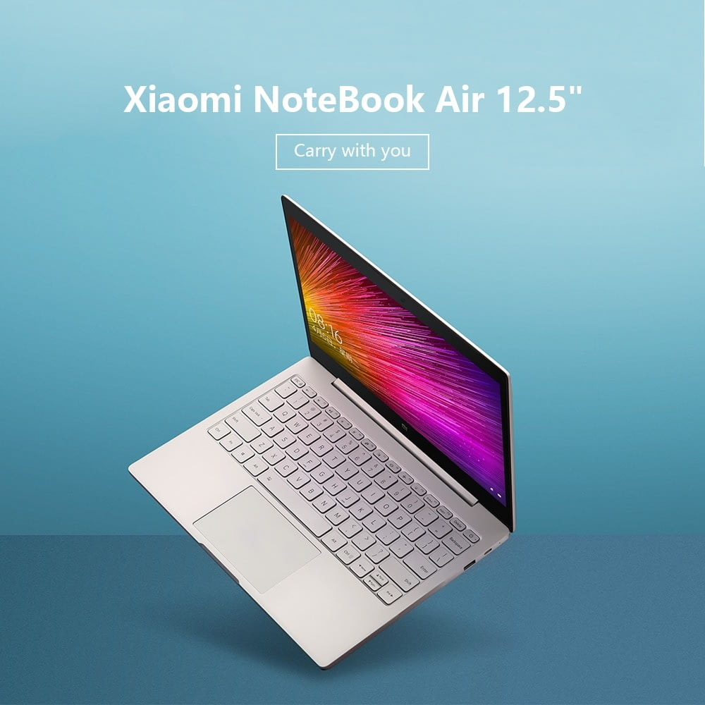 "Xiaomi Air 12.5"" Notebook Thin & Light PC 8th Intel Core i5-8200Y 4GB 256GB SATA SSD LPDDR3 1866MHz Laptop Silver"