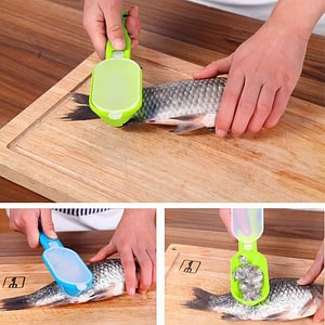 New Practical Fish Scale Remover Scraper Cleaner Kitchen Tool Peeler 1 Pcs Scraping Fish Cleaning Tool Lid Kitchen Accessories