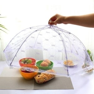 1PC Portable Umbrella Style Food Cover Anti Mosquito Meal Cover Lace Table Home Using Food Cover Kitchen Gadgets Cooking Tools