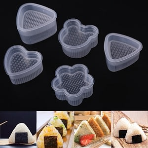 Clear Sushi Mold Practical Kitchen Bento Decorating Sushi Onigiri Mold Food Press Triangular Form Rice Ball Maker Accessories