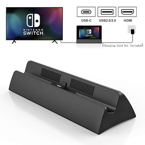Vogek Portable Dock Station for Nintendo Switch with Type C to HDMI TV Adapter USB 3.0 2.0 Charging Docking Playstand Charger