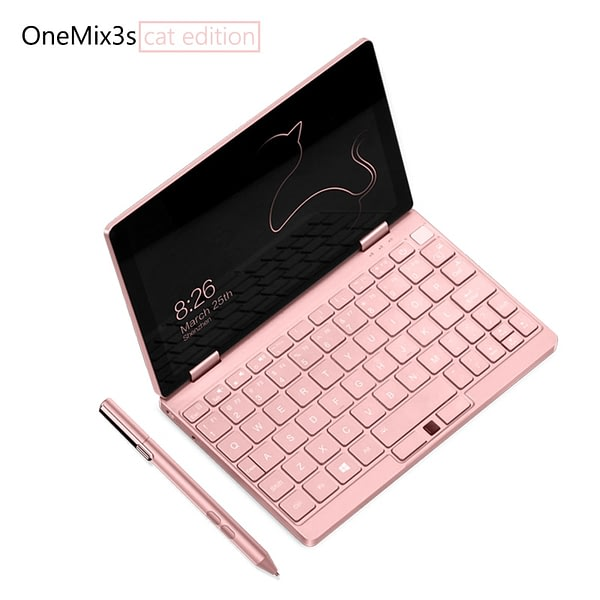 New OneMix Laptop Pocket Notebeek 8GB 256GB 8.4 Inch Slim Laptops Rose Gold Gaming Mini PC Computer Netbook m3-8100Y Windows 10