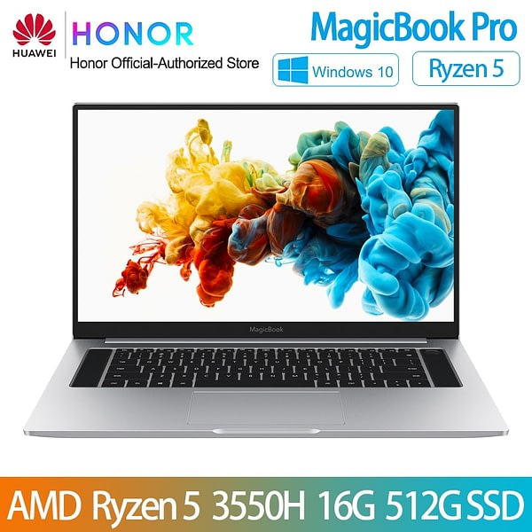 HUAWEI HONOR MagicBook Pro Laptop Notebook Computer(AMD Ryzen R5 3550H 16GB RAM/512G SSD/16.1'' IPS 100%sRGB)