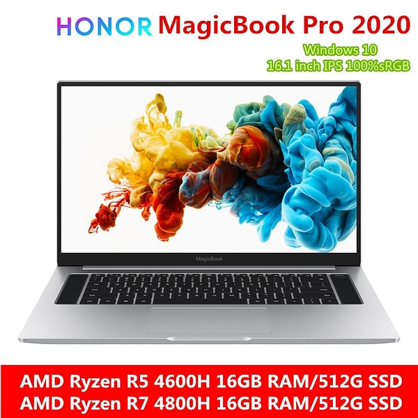 HONOR MagicBook Pro Laptop Notebook Computer(AMD Ryzen R5 4600H/ R7 4800H 16GB RAM/512G SSD/16.1'' IPS 100%sRGB)