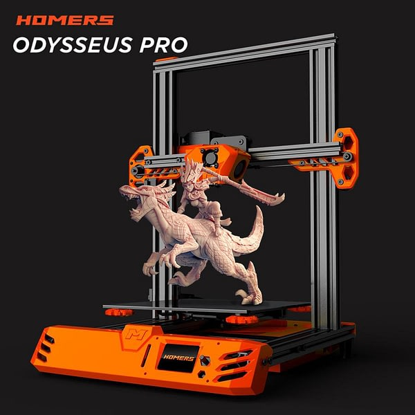 2020 Newest 3D Printer Homers Odysseus/TEVO Tarantula Pro The most Affordable 3D Printer DIY Kits TMC2208 facesheild
