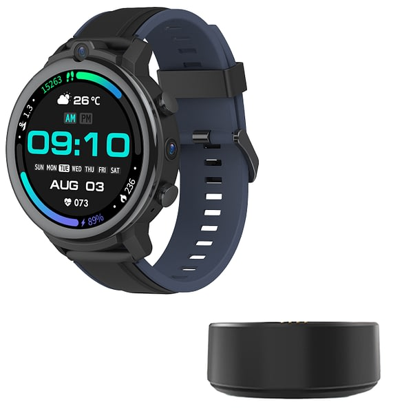 [Wireless Charger]Kospet Power 1.6 inch 400*400px Ceramic Bezel 3G+32G Memory 4G-LTE Watch Phone Face Unlock Dual Cameras GPS GLONASS Smart Watch