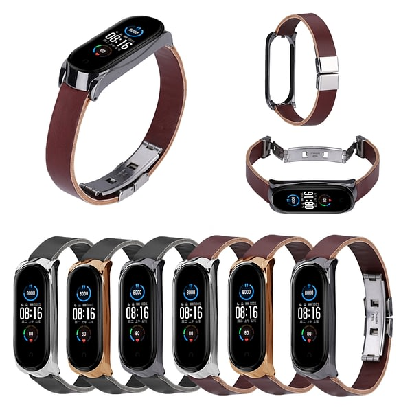Bakeey Buckle Shell Double Button Butterfly Buckle Replacement Strap Smart Watch Band For Xiaomi Mi Band 5 Non-original