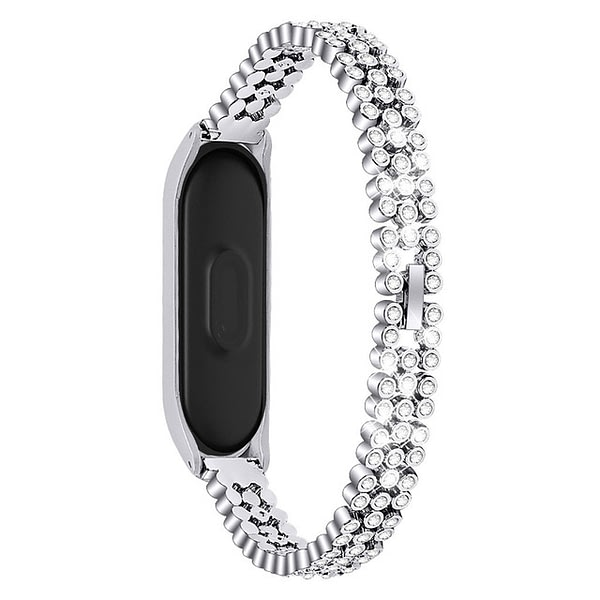 Bakeey Crystal Stainless Steel Watch Band for Xiaomi mi Band 5 Smart Watch Non-original