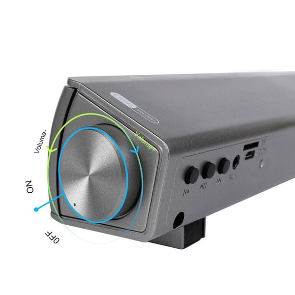 Bluetooth Soundbar Portable Soundbar Wireless Speakers for Home Theater Surround Sound with Built-in Subwoofers for TV/PC/Phone