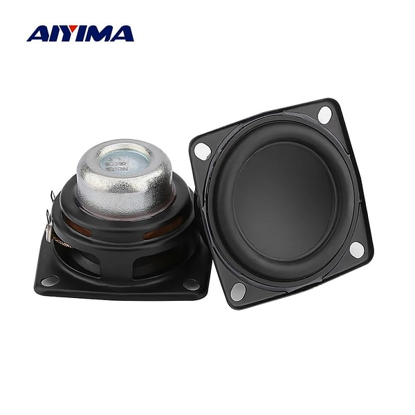 AIYIMA 2Pcs 2 Inch Full Range Audio Speaker Unit 53mm 4 Ohm 10W Hifi Stereo Loudspeaker DIY Bluetooth Home Amplifier Speakers