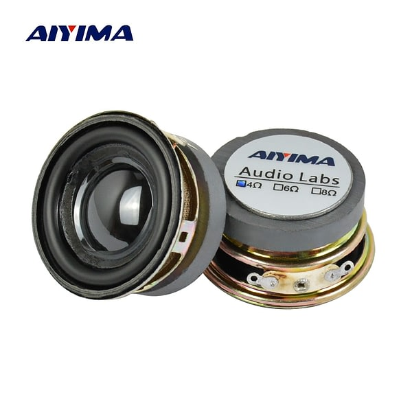 AIYIMA 2Pcs 1.5 Inch Full Frequency Sound Speaker 40MM 4 Ohm 3W Bluetooth Speaker PU Basin Loudspeaker For Audio Amplifier DIY