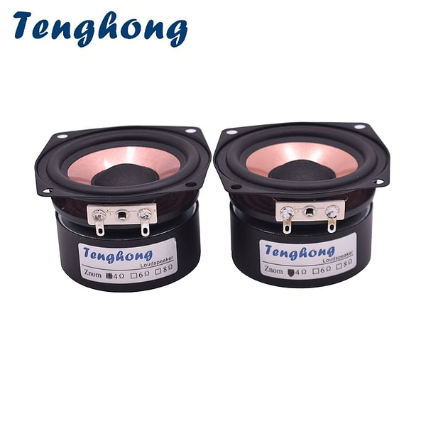 Tenghong 1PCS 4 Ohm 8 Ohm 2.5 Inch Power Full Frequency Speaker AS-25QF01 HIFI High Sensitivity Home Audio Amplifier Speaker 20W