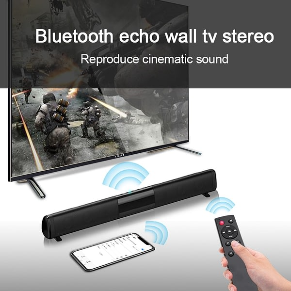 Soundbar Patent New TV Echo Wall Wired TWS100W Wireless Bluetooth Speaker Home Theater boombox music Center for PC Cinema TV/AUX