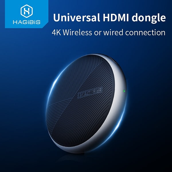 Hagibis 2.4G/5G 4K Wifi Display Receiver Wireless/Wired HDMI dongle Miracast AirPlay DLNA TV Stick for chromecast Projector HDTV