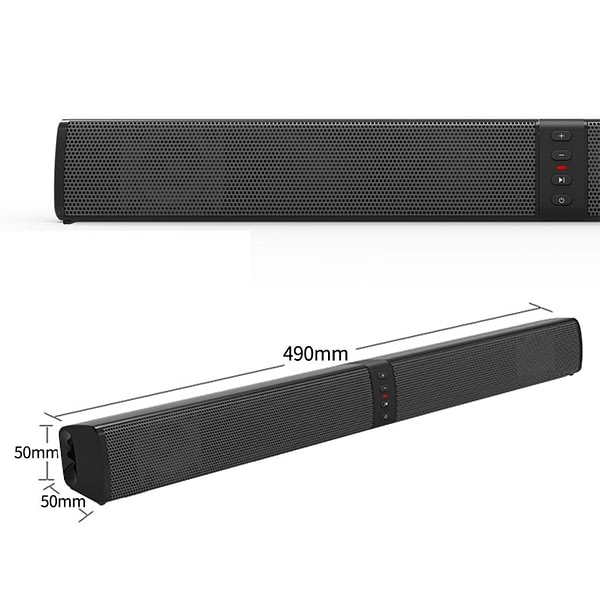 20W(Detachable)Wireless Column Bluetooth Speaker Soundbar Stereo TV Speakers Home Theater 2000mAh Sound Bar TF U-Disk For TV PC